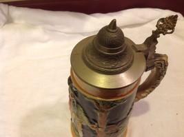 Vintage German lidded ceramic stein from estate mid 1900s #2 image 5