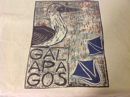Vintage Galapagos T shirt with Booby bird 100% cotton size small image 5