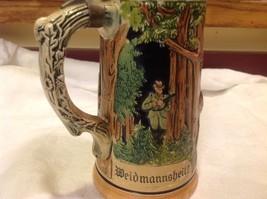 Vintage German lidded ceramic stein from estate mid 1900s #3 image 7