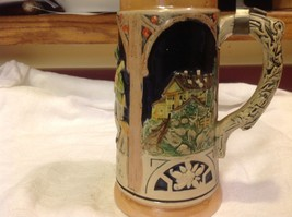 Vintage German lidded ceramic stein from estate mid 1900s #4 image 5