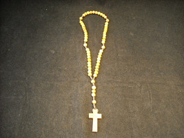 Vintage Light stained wood rosary image 2