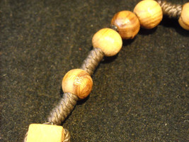Vintage Light stained wood rosary image 3