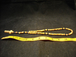 Vintage Light stained wood rosary image 6