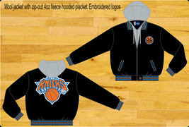 JH Design NY Knicks Wool Hoodie Jacket  - $114.95