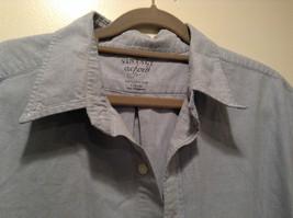 Vintage Oxford 100 Percent Cotton Size 42 to 44 Short Sleeve Light Blue Shirt image 2