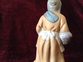 Vintage Porcelain Painted Old Woman Figurine image 5