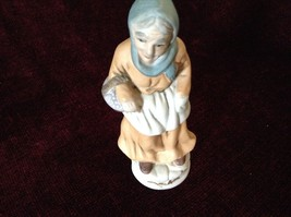 Vintage Porcelain Painted Old Woman Figurine image 3