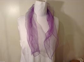 Vintage Purple Gauze Sheer Square Scarf for repair/repurposing 100% nylon image 2
