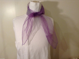 Vintage Purple Gauze Sheer Square Scarf for repair/repurposing 100% nylon image 3