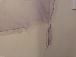 Vintage Purple Gauze Sheer Square Scarf for repair/repurposing 100% nylon image 4