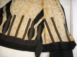 Vintage Victorian style Black Long sleeved bodice with corset stays image 8