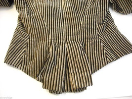 Vintage Victorian style Black and Tan Striped Corduroy Bodice image 3