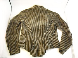 Vintage Victorian style Black and Tan Striped Corduroy Bodice image 2