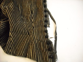 Vintage Victorian style Black and Tan Striped Corduroy Bodice image 5