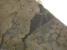 Vintage Victorian style Black lace with velvet short sleeved bodice beaded bust image 4