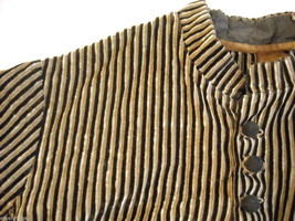 Vintage Victorian style Black and Tan Striped Corduroy Bodice image 7
