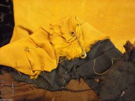 Vintage Victorian style black satiny bodice w velveteen paisley trim gold front image 6