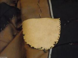 Vintage Victorian style black satiny bodice w velveteen paisley trim gold front image 8