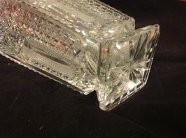 Vintage estate square American Brilliant crystal glass vase image 5