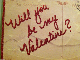 """Vintage """"Will You Be My Valentine?"""" Post Card Valentine's Day Decor image 5"""