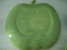 Vintage apple ceramic serving set in green blue yellow made in California image 4