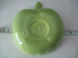 Vintage apple ceramic serving set in green blue yellow made in California image 9