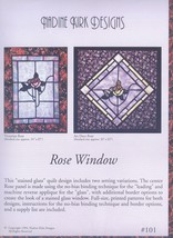 stained glass quilt pattern   Rose Window #101 - $4.00