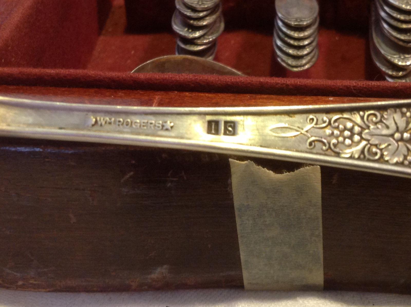Vintage silverplate set Burgundy-Champaigne 1934 Wm Rogers Eagle & Star Mark