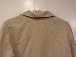 Vito Emanuele Long Sleeve Sand Colored Button Up Front Blouse No Size Tag image 5