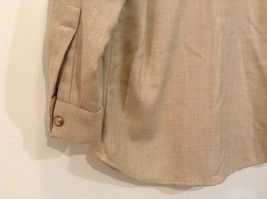 Vito Emanuele Long Sleeve Sand Colored Button Up Front Blouse No Size Tag image 6