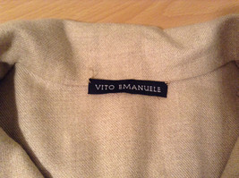 Vito Emanuele Long Sleeve Sand Colored Button Up Front Blouse No Size Tag image 8