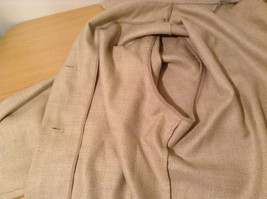 Vito Emanuele Long Sleeve Sand Colored Button Up Front Blouse No Size Tag image 9