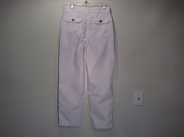 Weekends White Pleated Front Casual Pants Size 32 Front and Back Pockets image 5