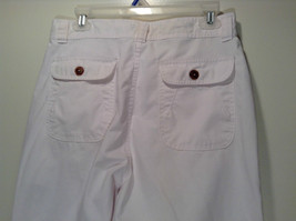 Weekends White Pleated Front Casual Pants Size 32 Front and Back Pockets image 6