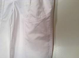 Weekends White Pleated Front Casual Pants Size 32 Front and Back Pockets image 3