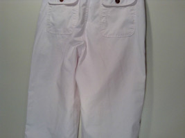 Weekends White Pleated Front Casual Pants Size 32 Front and Back Pockets image 7