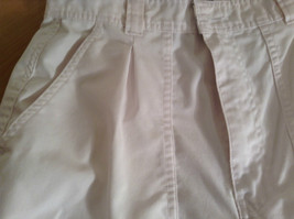 Weekends White Pleated Front Casual Pants Size 32 Front and Back Pockets image 9