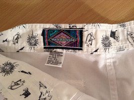 Weekends White Pleated Front Casual Pants Size 32 Front and Back Pockets image 8