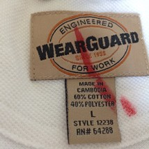 Wear Guard Size Large White Short Sleeve Polo Shirt Original Tag image 5