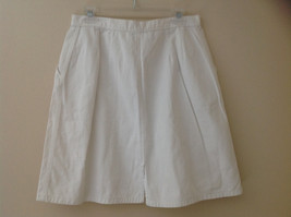 White Front Button Up Skirt Knee Length Pockets Cherokee Size 13/14 image 6