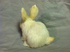 White Bunny Rabbit Animal Figurine - recycled rabbit fur image 6