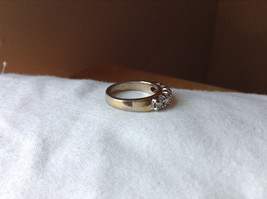 White CZ Stone Gold Plated Band Ring Size 5.75 image 4