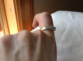 White CZ Stone Gold Plated Band Ring Size 5.75 image 7