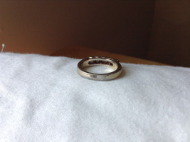 White CZ Stone Gold Plated Band Ring Size 5.75 image 3