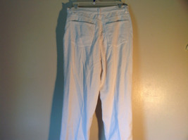 White Corduroy J Crew Pants Front and Back Pockets Zipper Button Closure Size S image 4
