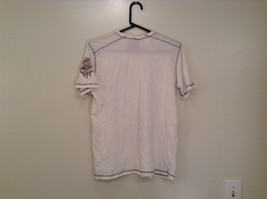 White Graphic Short Sleeve T Shirt 100 Percent Cotton Division Size Small image 2