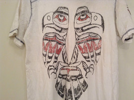 White Graphic Short Sleeve T Shirt 100 Percent Cotton Division Size Small image 4