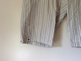 White Light Brown Blue Striped Casual 100 Percent  Cotton Shorts by Lee Size 16M image 3