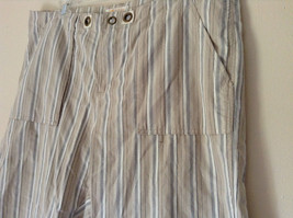 White Light Brown Blue Striped Casual 100 Percent  Cotton Shorts by Lee Size 16M image 5