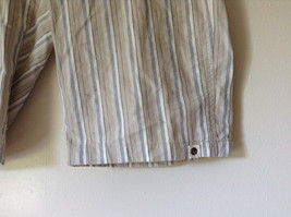 White Light Brown Blue Striped Casual 100 Percent  Cotton Shorts by Lee Size 16M image 4